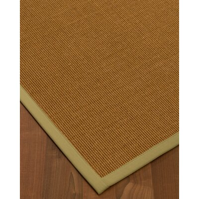 Antonina Border Hand-Woven Brown/Beige Area Rug Rug Size: Rectangle 8 x 10, Rug Pad Included: Yes