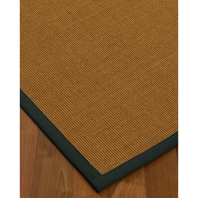 Antonina Border Hand-Woven Brown/Onyx Area Rug Rug Size: Rectangle 6 x 9, Rug Pad Included: Yes