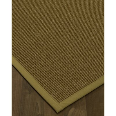 Antonina Border Hand-Woven Brown/Sage Area Rug Rug Size: Rectangle 6 x 9, Rug Pad Included: Yes