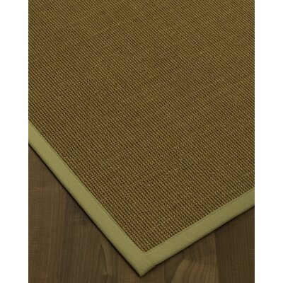 Antonina Border Hand-Woven Olive/Sage Area Rug Rug Size: Rectangle 9 x 12, Rug Pad Included: Yes