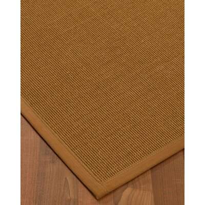 Antonina Border Hand-Woven Brown/Sienna Area Rug Rug Size: Rectangle 6 x 9, Rug Pad Included: Yes