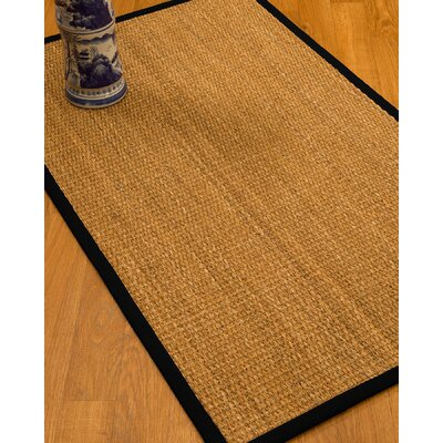 Kimberwood Border Hand-Woven Brown/Black Area Rug Rug Size: Rectangle 5 x 8, Rug Pad Included: Yes