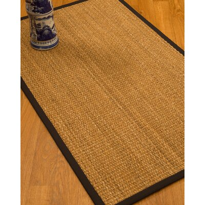 Kimberwood Border Hand-Woven Brown/Fudge Area Rug Rug Size: Rectangle 4 x 6, Rug Pad Included: Yes