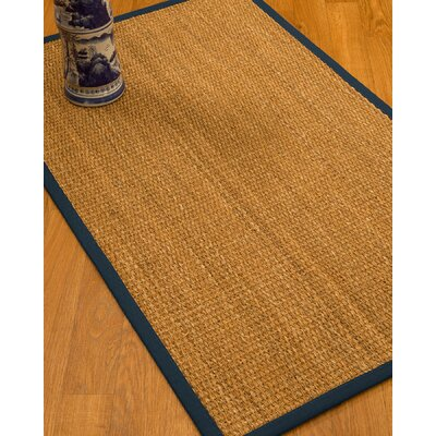 Kimberwood Border Hand-Woven Brown/Marine Area Rug Rug Size: Rectangle 6 x 9, Rug Pad Included: Yes