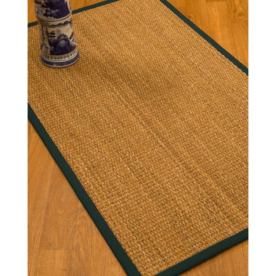 Kimberwood Border Hand-Woven Brown/Moss Area Rug Rug Size: Rectangle 6 x 9, Rug Pad Included: Yes