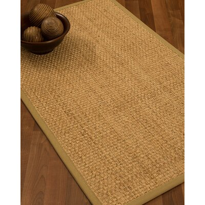Caster Border Hand-Woven Beige/Sage Area Rug Rug Size: Rectangle 5 x 8, Rug Pad Included: Yes