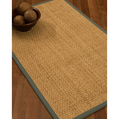 Caster Border Hand-Woven Beige/Stone Area Rug Rug Size: Rectangle 9 x 12, Rug Pad Included: Yes