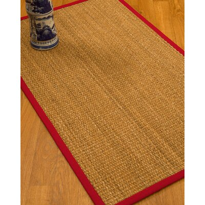 Kimberwood Border Hand-Woven Brown/Red Area Rug Rug Size: Rectangle 4 x 6, Rug Pad Included: Yes