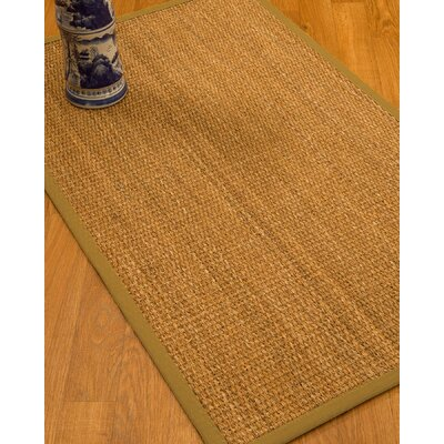 Kimberwood Border Hand-Woven Brown/Sage Area Rug Rug Size: Rectangle 6 x 9, Rug Pad Included: Yes