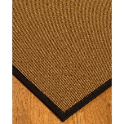 Antonina Border Hand-Woven Brown/Black Area Rug Rug Size: Rectangle 2 x 3, Rug Pad Included: No