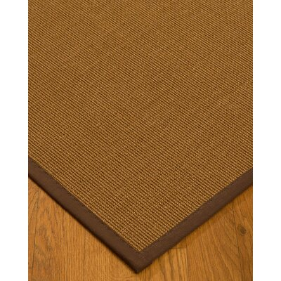 Antonina Border Hand-Woven Brown/Brown Area Rug Rug Size: Rectangle 8 x 10, Rug Pad Included: Yes