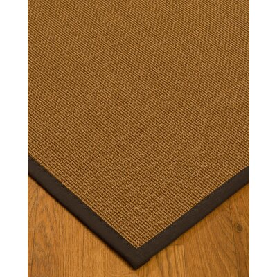 Antonina Border Hand-Woven Brown/Fudge Area Rug Rug Size: Rectangle 4 x 6, Rug Pad Included: Yes