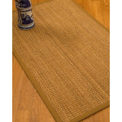 Kimberwood Border Hand-Woven Brown/Sienna Area Rug Rug Size: Runner 26 x 8, Rug Pad Included: No