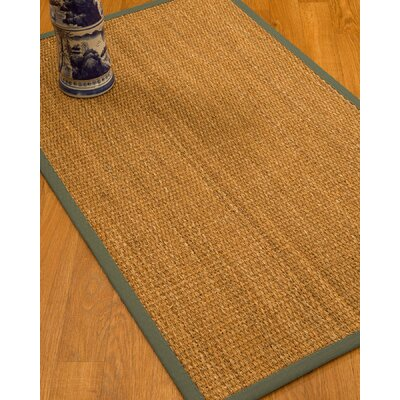 Kimberwood Border Hand-Woven Brown/Stone Area Rug Rug Size: Rectangle 6 x 9, Rug Pad Included: Yes