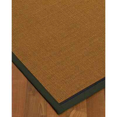 Antonina Border Hand-Woven Brown/Black Area Rug Rug Size: Rectangle 6 x 9, Rug Pad Included: Yes