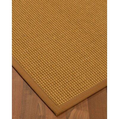 Aula Border Hand-Woven Brown/Sienna Area Rug Rug Size: Rectangle 6 x 9, Rug Pad Included: Yes