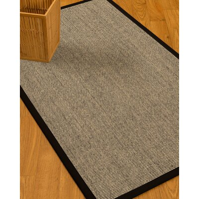 Mahan Border Hand-Woven Beige/Black Area Rug with Free Rug Pad
