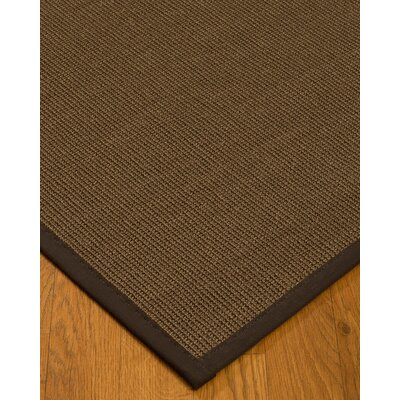 Kerner Border Hand-Woven Brown Area Rug Rug Size: Rectangle 5 x 8, Rug Pad Included: Yes