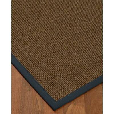 Kerner Border Hand-Woven Brown/Marine Area Rug Rug Size: Rectangle 5 x 8, Rug Pad Included: Yes