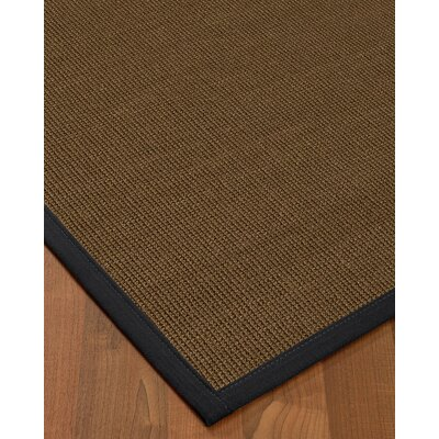 Kerner Border Hand-Woven Brown/Midnight Blue Area Rug Rug Size: Rectangle 6 x 9, Rug Pad Included: Yes