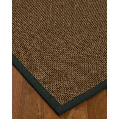 Kerner Border Hand-Woven Brown/Onyx Area Rug Rug Size: Rectangle 5 x 8, Rug Pad Included: Yes