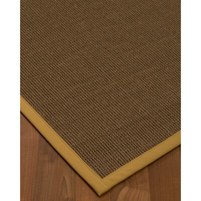 Kerner Border Hand-Woven Brown/Sage Area Rug Rug Size: Runner 26 x 8, Rug Pad Included: No