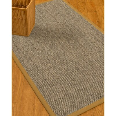 Mahan Border Hand-Woven Gray/Sage Area Rug Rug Size: Rectangle 6 x 9, Rug Pad Included: Yes