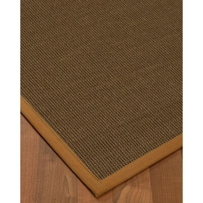 Kerner Border Hand-Woven Brown/Sienna Area Rug Rug Size: Rectangle 9 x 12, Rug Pad Included: Yes