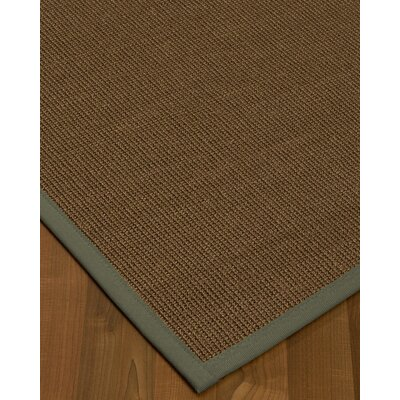 Kerner Border Hand-Woven Brown/Stone Area Rug Rug Size: Rectangle 12 x 15, Rug Pad Included: Yes