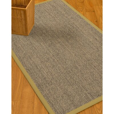 Mahan Border Hand-Woven Gray/Sand Area Rug Rug Size: Rectangle 12 x 15, Rug Pad Included: Yes