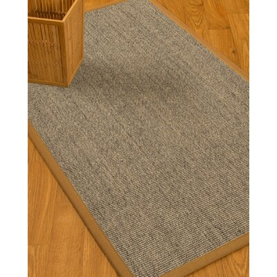 Mahan Border Hand-Woven Gray/Brown Area Rug Rug Size: Rectangle 4 x 6, Rug Pad Included: Yes