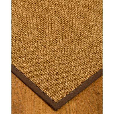 Aula Border Hand-Woven Brown Area Rug Rug Size: Rectangle 6 x 9, Rug Pad Included: Yes