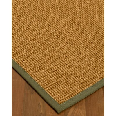 Aula Border Hand-Woven Brown/Fossil Area Rug Rug Size: Runner 26 x 8, Rug Pad Included: No
