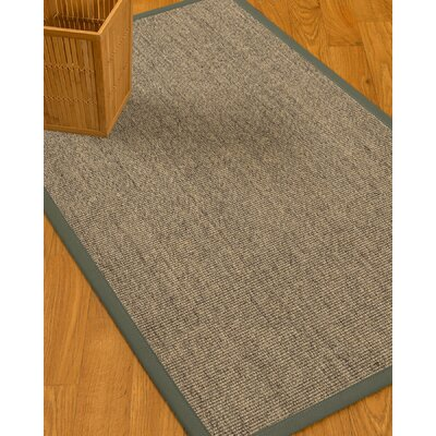 Mahan Border Hand-Woven Gray/Stone Area Rug Rug Size: Rectangle 5 x 8, Rug Pad Included: Yes