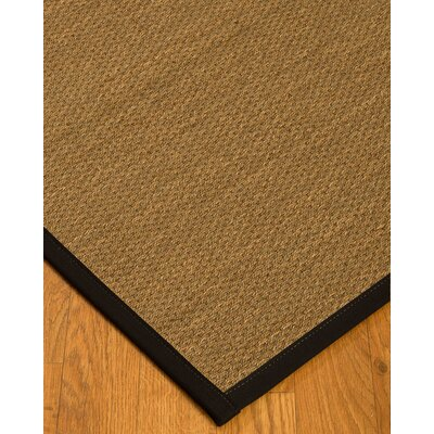 Chavis Border Hand-Woven Beige/Black Area Rug Rug Size: Rectangle 8 x 10, Rug Pad Included: Yes