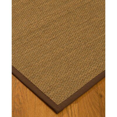 Chavis Border Hand-Woven Beige/Brown Area Rug Rug Size: Rectangle 5 x 8, Rug Pad Included: Yes