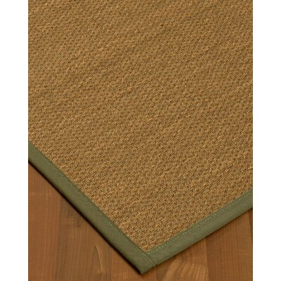 Chavis Border Hand-Woven Beige/Fossil Area Rug Rug Size: Rectangle 12 x 15, Rug Pad Included: Yes