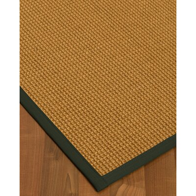 Aula Border Hand-Woven Brown/Green Area Rug Rug Size: Runner 26 x 8, Rug Pad Included: No