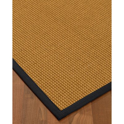 Aula Border Hand-Woven Brown/Black Area Rug Rug Size: Runner 26 x 8, Rug Pad Included: No