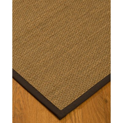 Chavis Border Hand-Woven Beige/Fudge Area Rug Rug Size: Rectangle 9 x 12, Rug Pad Included: Yes