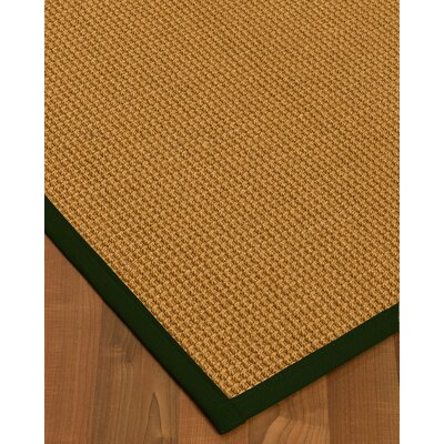 Aula Border Hand-Woven Brown/Moss Area Rug Rug Size: Rectangle 6' x 9', Rug Pad Included: Yes