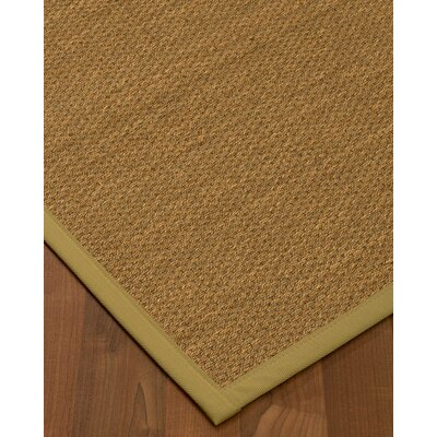 Chavis Border Hand-Woven Beige/Khaki Area Rug Rug Size: Rectangle 12 x 15, Rug Pad Included: Yes