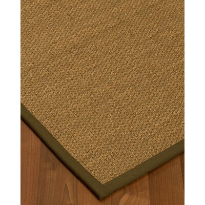 Chavis Border Hand-Woven Beige/Malt Area Rug Rug Size: Rectangle 9 x 12, Rug Pad Included: Yes
