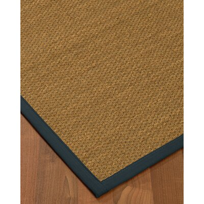 Chavis Border Hand-Woven Beige/Marine Area Rug Rug Size: Rectangle 9 x 12, Rug Pad Included: Yes