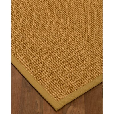 Aula Border Hand-Woven Brown Area Rug Rug Size: Runner 26 x 8, Rug Pad Included: No