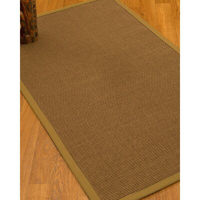 Huntwood Border Hand-Woven Brown/Sage Area Rug Rug Size: Rectangle 6 x 9, Rug Pad Included: Yes
