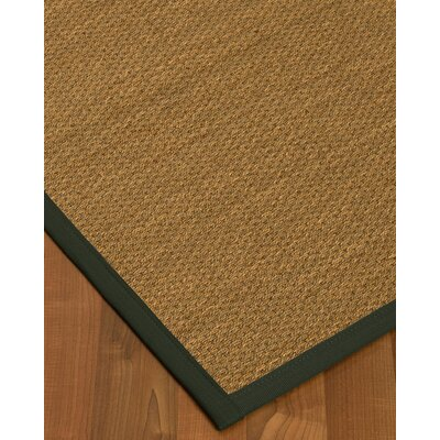 Chavis Border Hand-Woven Beige/Metal Area Rug Rug Size: Rectangle 9 x 12, Rug Pad Included: Yes