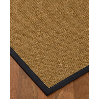Chavis Border Hand-Woven Beige/Midnight Blue Area Rug Rug Size: Runner 26 x 8, Rug Pad Included: No