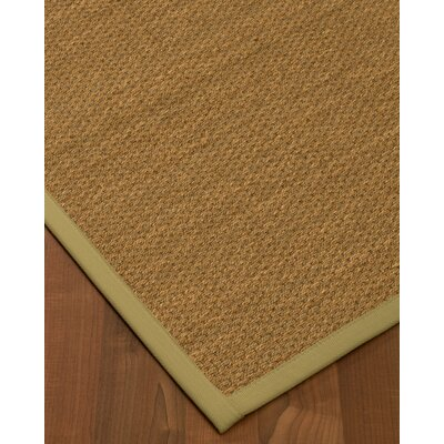 Chavis Border Hand-Woven Beige/Natural Area Rug Rug Size: Rectangle 9 x 12, Rug Pad Included: Yes