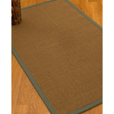 Huntwood Border Hand-Woven Brown/Slate Area Rug Rug Size: Runner 26 x 8, Rug Pad Included: No